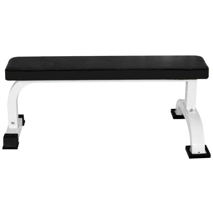 Banc de musculation KirinSport banc plat banc de fitness a maison Banc d'Haltérophilie Haltère Exercices d'Haltérophilie et Exercice