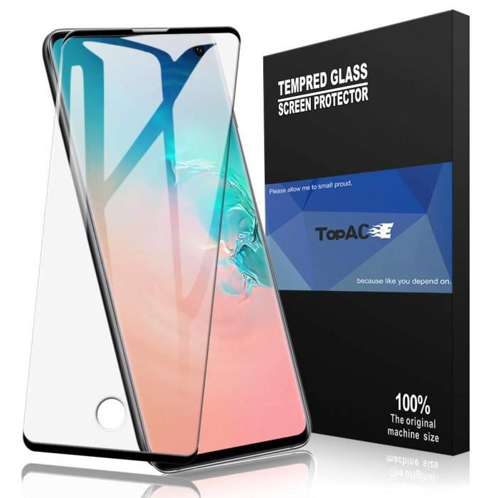 Protecteur écran pour Samsung Galaxy S10,[Empreinte Digitale à déverrouiller] [Plein écran] 9H Protecteur d'écran en Verre trempé