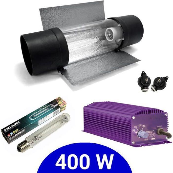 Kit eclairage électronique dimmable Lumatek 400W + Grolux HPS + Cooltube Protube