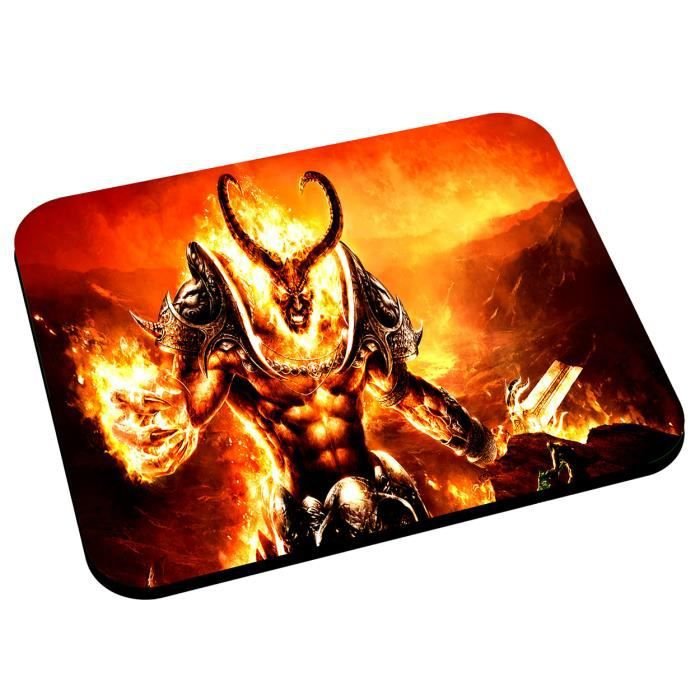 Tapis de souris demon jeux video rpg