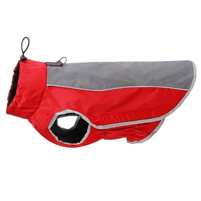 Manteau Blouson,Manteau d'hiver imperméable réfléchissant Vêtements pour chiens, Pitbull, bouledogue français, pour - Type Red-S