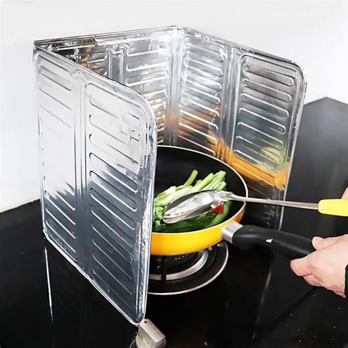 Écran Anti-Éclaboussures D'Huile, Gadgets De Cuisine, Plaque En Aluminium, Déflecteur De Cuisinière À Gaz, Panneau De Protection