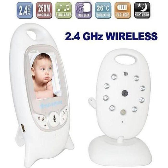 BabyPhone vidéo Sans fil Multifonctions 2,0 pouces couleur vidéo sans fil bébé vb601