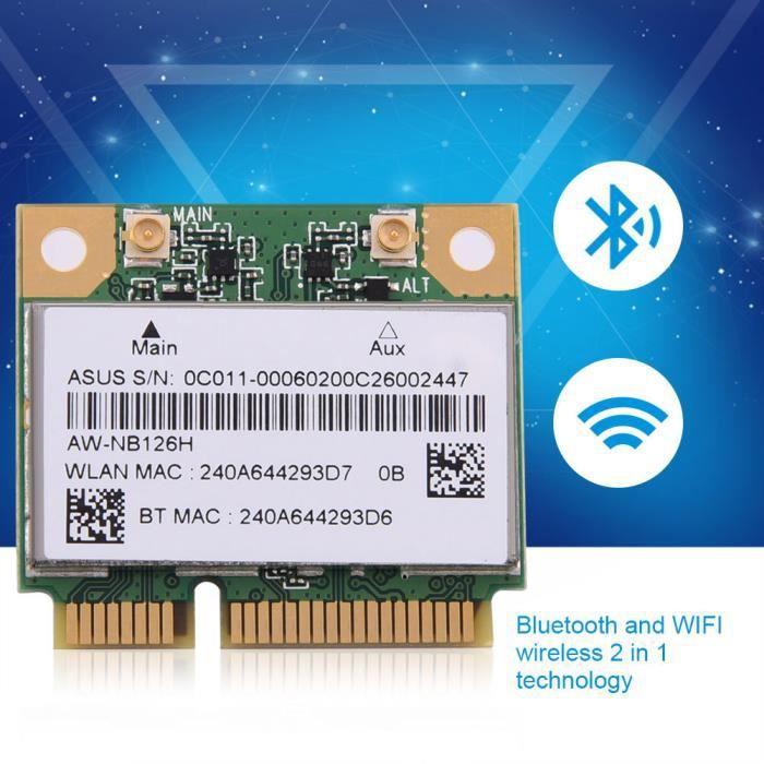 2.4G Bluetooth WIFI 2 en 1 Carte sans Fil pour Fente Mini Carte PCI-E pour DELL-Asus - Toshiba HB043