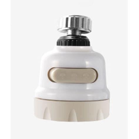 Accessoires robinet de cuisine,Robinet pulvérisateur de cuisine rotatif à 360 °, robinet de cuisine mobile, tête - Type White S