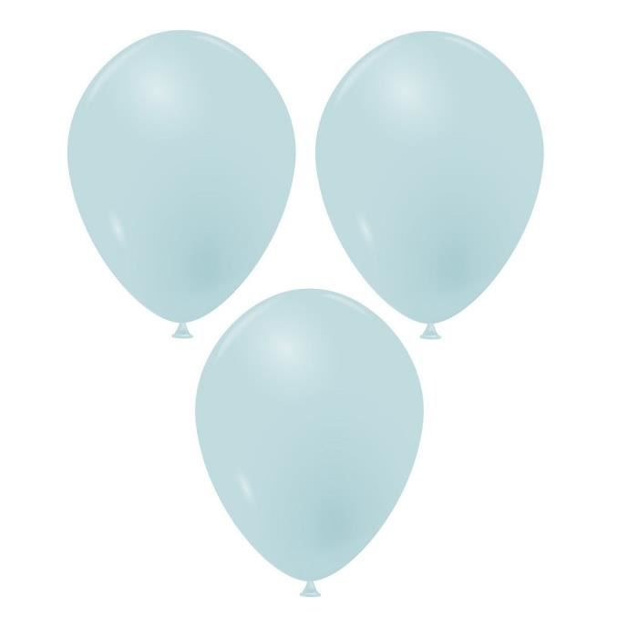 Ballon latex opaque 25cm bleu pastel (x100) REF/51742 fabrication française