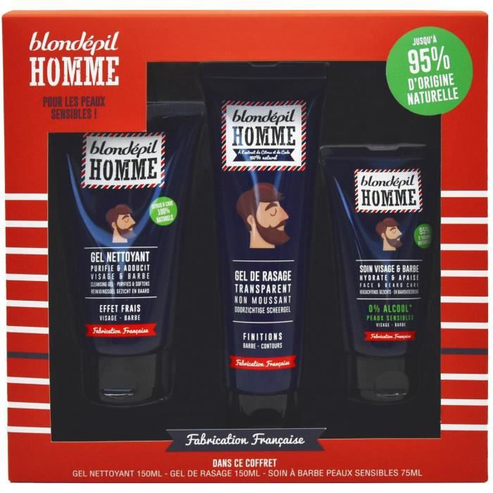 BLONDEPIL HOMME Coffret Barber Nature Soin Apaisant