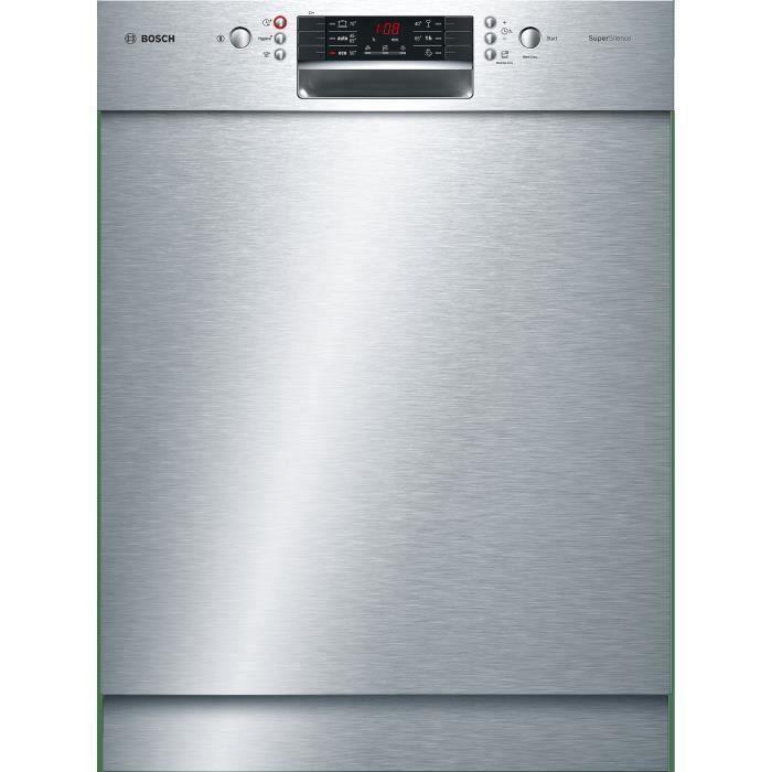 Lave-vaisselle pose libre BOSH SMU46NS03E - 14 couverts - Moteur induction - Largeur 60 cm - 44 dB - Inox