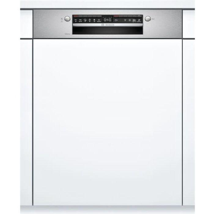 Lave-vaisselle encastrable BOSCH SGI4HVS31E Série 4 - 12 couverts - Induction - L60cm - 46 dB - Bandeau Inox