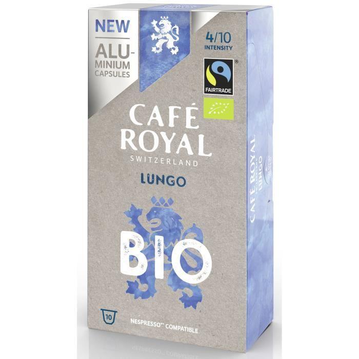 CAFE ROYAL compatible Nespresso Alu Lungo BIO x10