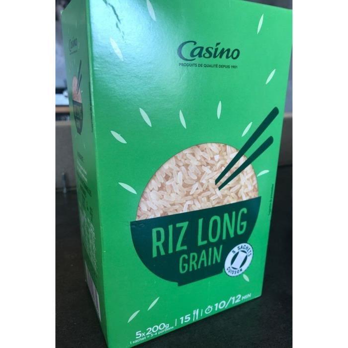 CASINO Riz Long Grain - 10 M - 5 x 200 g