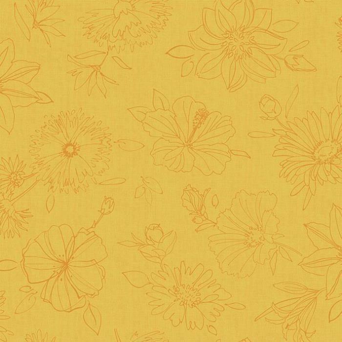 D-C-TABLE - Nappe ovale manhattan palmas jaune 150x250cm