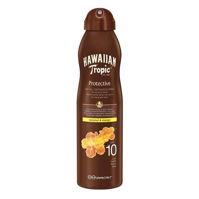 Hawaiian Tropic Brume Huile Seche SPF10 180 ml