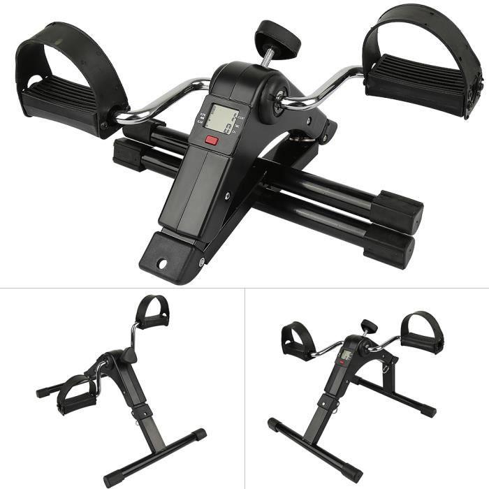 JEOBEST® Pédalier d'exercices avec Écran LCD Mini vélo d'appartement Pliable