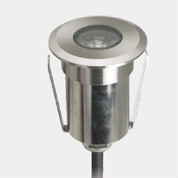Spot LED extérieur à enterrer 3W (20W) 12V (Blanc Froid (6000K))