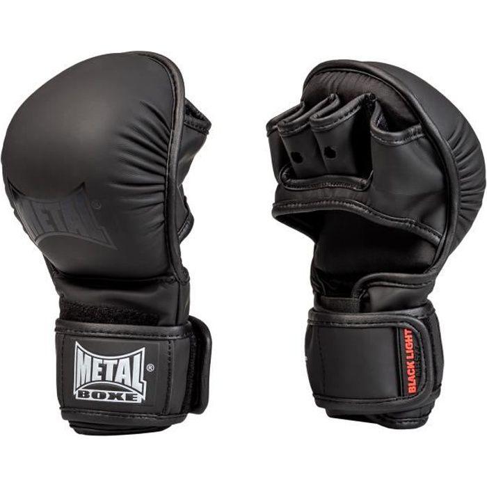 -Gants de MMA entraînement Métal boxe-S-Noir-S--S-Noir--------------Noir-S