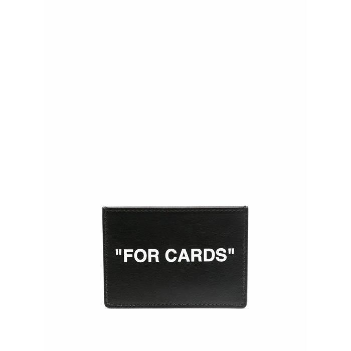 OFF-WHITE HOMME OMND017R21LEA0011001 NOIR CUIR PORTE-CARTES