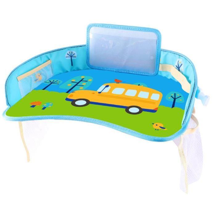 Petite palette imperméable de table de stockage de voiture d'enfant de plateau de siège de sécurité de bébé de voiture, jaune