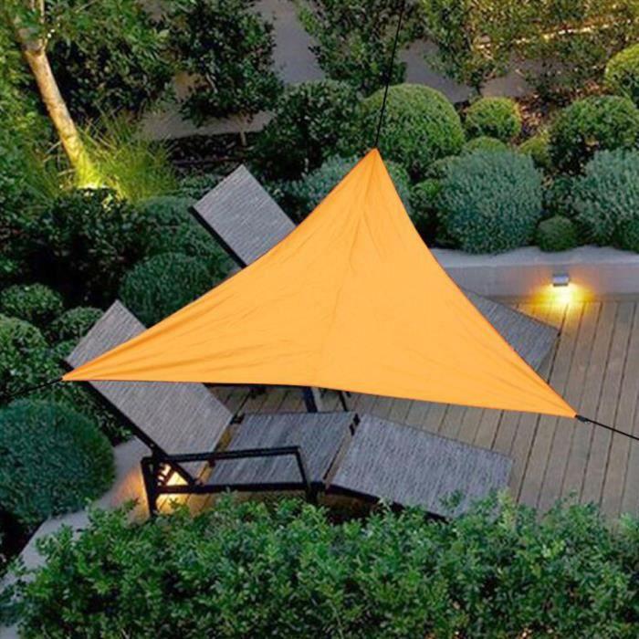 Voiles D'ombrage Triangulaire Orange 4x4x4m 95% Crème Solaire Anti UV