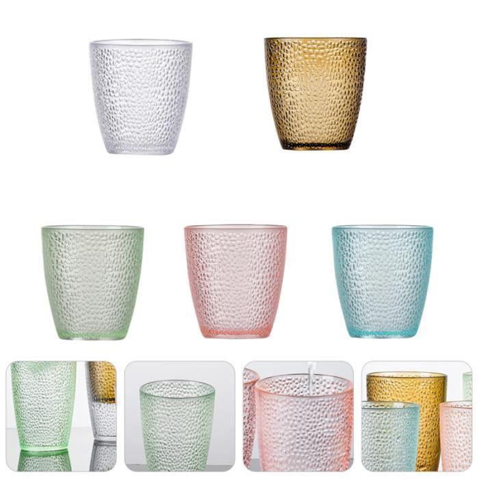 5 Pièces D'eau Tasse Durable Acrylique Décoratif Coloré Empilable Boisson Partie VERRE A BIERE - CHOPE A BIERE - BOLEE A CIDRE