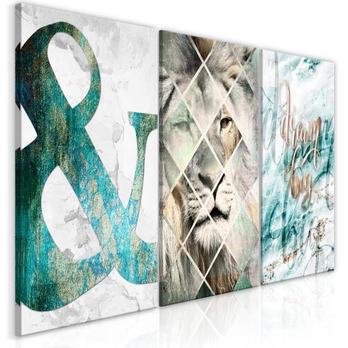 Tableau Lion Dreams 3 Pièces - taille:60 x 30 cm