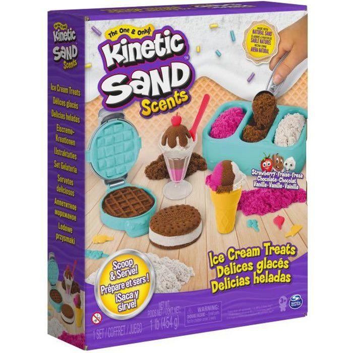 KINETIC SAND - SABLE MAGIQUE - COFFRET DELICES GLACES PARFUME 454G - Sable Cinétique et Coloré à modeler - 6059742 - Jouet 3 ans