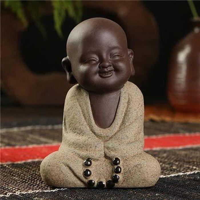 Statue Bouddha Statuette Exterieur boudha Deco Interieur Jardin Grande Miniature Figurines De Sable Statues À Thé Petits Moines