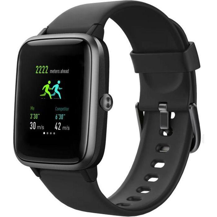 WEE PLUG GPS SmartFit - Montre connectée GPS - Multisports - Cardio - Bluetooth - IP68 - Noir