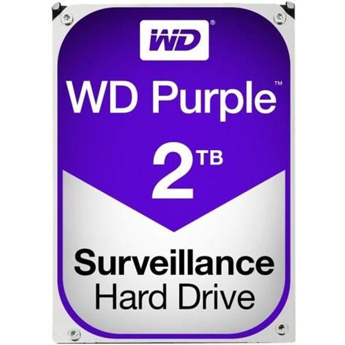 WESTERN DIGITAL Disque dur WD Purple WD20PURZ - 3.5- Interne - 2 To - SATA/600 - 5400trs/mn - Buffer 64 Mo