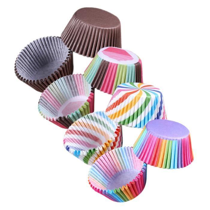 Doublures de cupcake décoratives pratiques Muffin Cups Cupcake Liner Wrappers pour la fête GATEAU PATISSIER