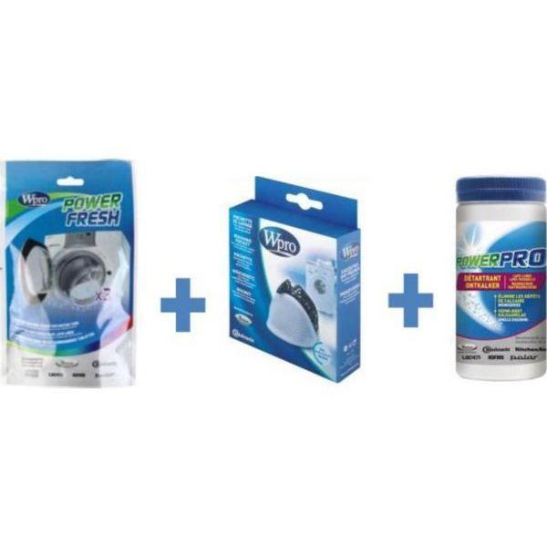 WPRO KDW100 Kit d'entretien pour lave-linge avec poignée (contient AFR300 + DES001 + WAS100)