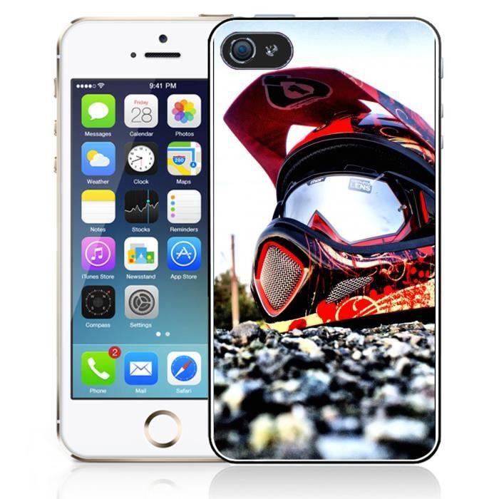 coque iphone 5 5s se casque cross moto