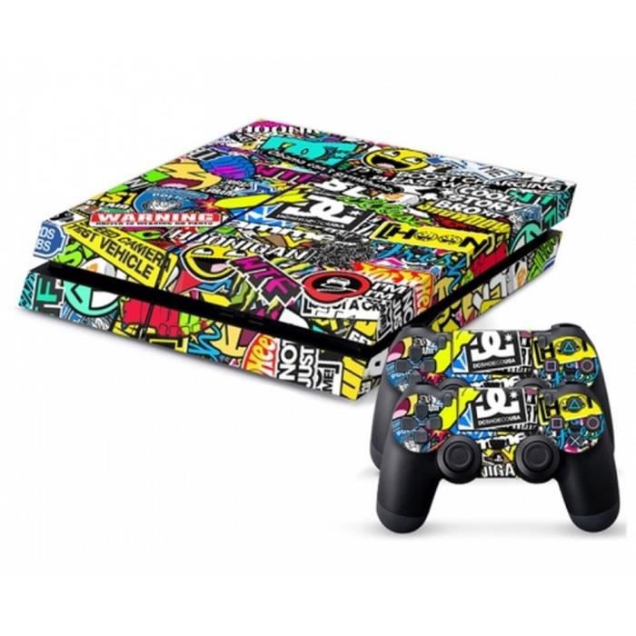 stickers skin playstation 4 achat vente stickers skin playstation 4 pas cher cdiscount. Black Bedroom Furniture Sets. Home Design Ideas