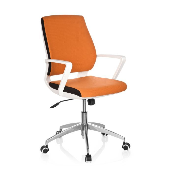 chaise de bureau chaise pivotante estra tissu achat vente chaise de bureau orange cdiscount. Black Bedroom Furniture Sets. Home Design Ideas