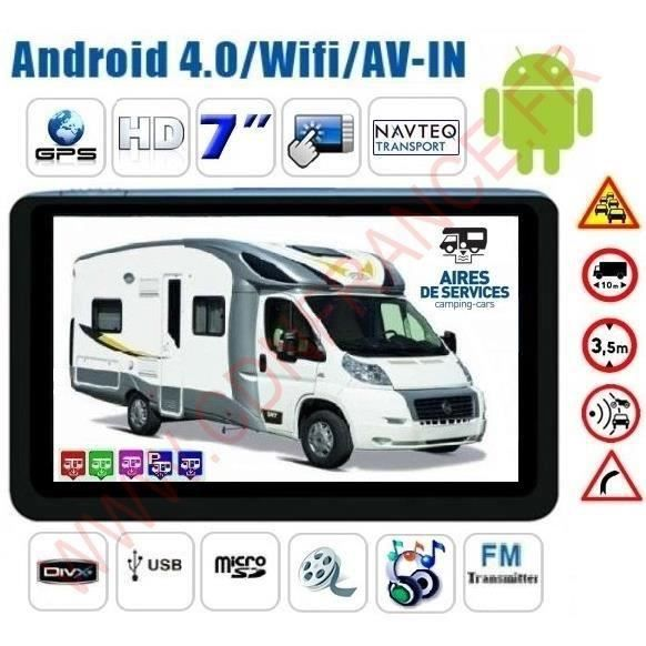 gps camping car android internet hd 2015 achat vente pack gps auto gps camping car android. Black Bedroom Furniture Sets. Home Design Ideas