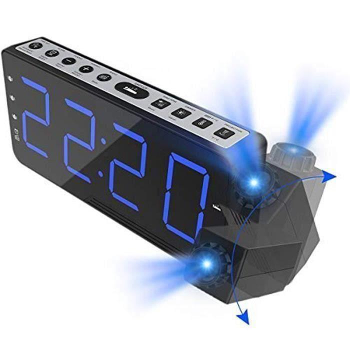 Radio réveil Réveil numérique Horloge Radio FM projection de l'