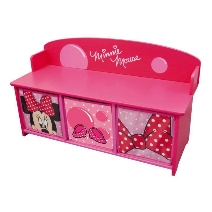 meuble de rangement minnie et banc 3 casiers achat vente petit rangement 2009944852742. Black Bedroom Furniture Sets. Home Design Ideas