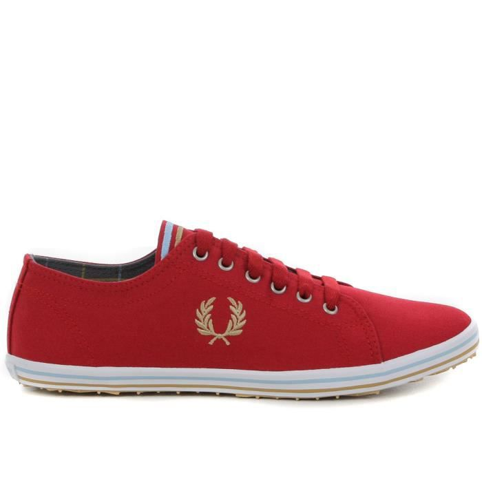 chaussure en toile fred perry po homme rouge achat vente chaussure en toile fred per. Black Bedroom Furniture Sets. Home Design Ideas