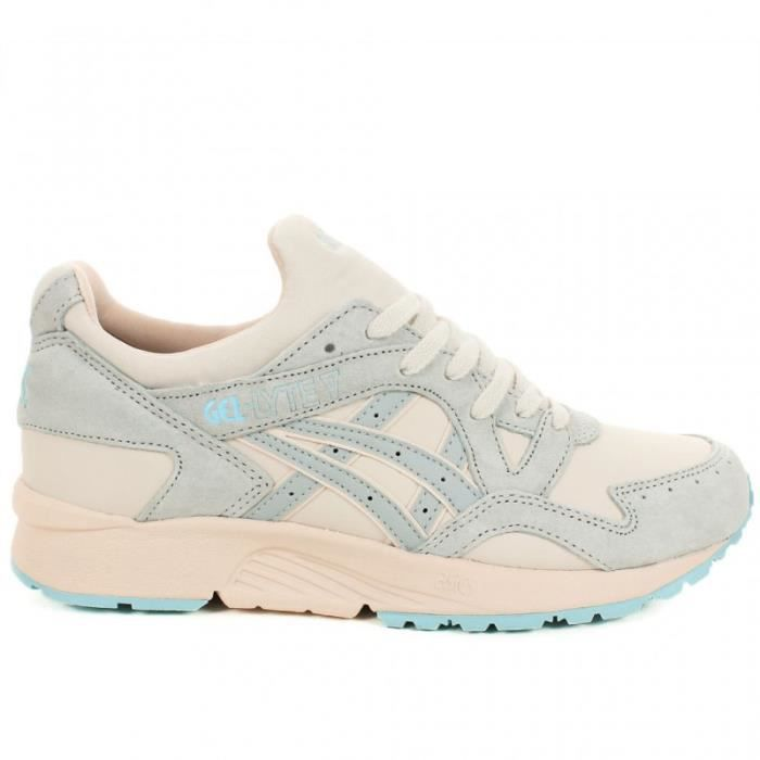 basket asics gel lyte v gris beige et bleu chaussure running femme prix pas cher cdiscount. Black Bedroom Furniture Sets. Home Design Ideas