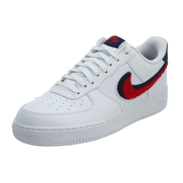 678596d154c Nike Air Force 1 07 Lv8 Homme Baskets Blanc Bleu Rouge Blanc Blanc ...