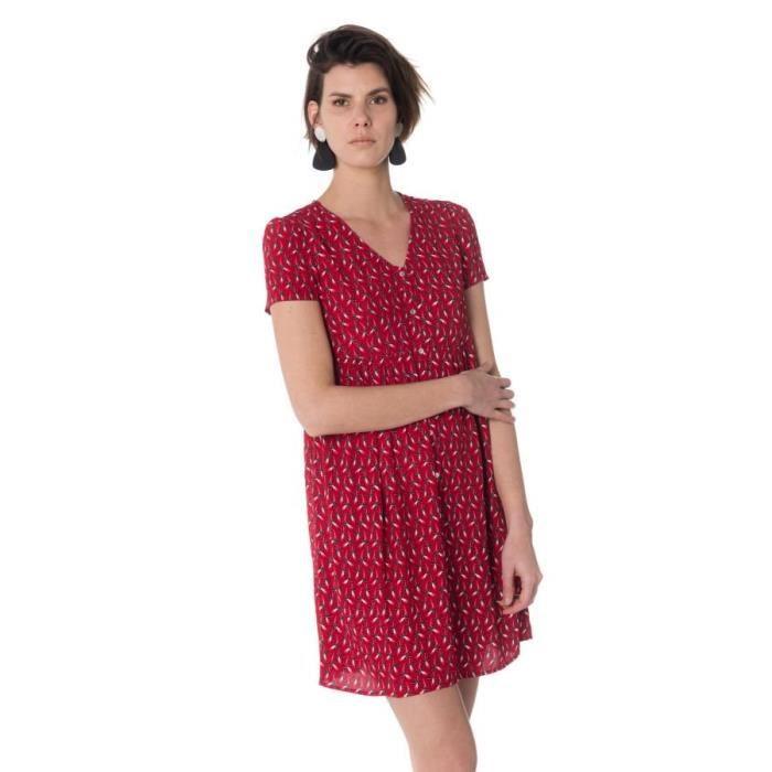 Le Temps Des Cerises Jupe Robe Robe Floriane Flame Rouge Achat Vente Robe Cdiscount