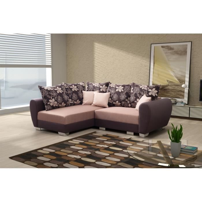 canap lit d 39 angle neola achat vente canap sofa divan cdiscount. Black Bedroom Furniture Sets. Home Design Ideas