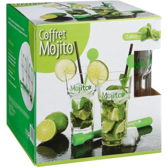 Verre à cocktail Coffret MOJITO 13 pièces