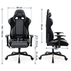 songmics fauteuil baquet gaming chaise gamer bureau gamingpascher. Black Bedroom Furniture Sets. Home Design Ideas