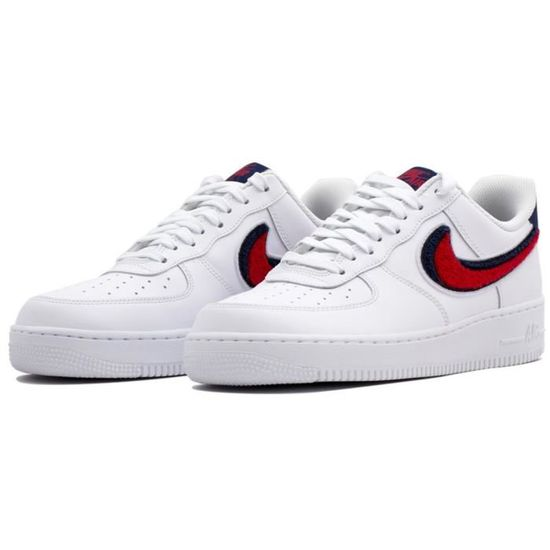wholesale dealer 72298 2619a Nike Air Force 1 07 Lv8 Homme Baskets Blanc Bleu Rouge Blanc Blanc bleu  rouge - Achat   Vente basket - Cdiscount