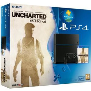 CONSOLE PS4 PS4 500 Go Noire + Uncharted Collection+ PS+ 3mois