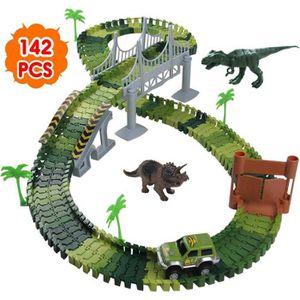 GARAGE - BATIMENT Circuit Dinosaure Voiture Flexible Circuit de Voit