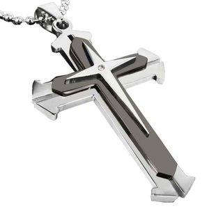 SAUTOIR ET COLLIER Chain Cross acier unisexe hommes inoxydable collie