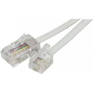 CÂBLE RÉSEAU  Cable RJ45 RJ11 téléphone 2m blanc