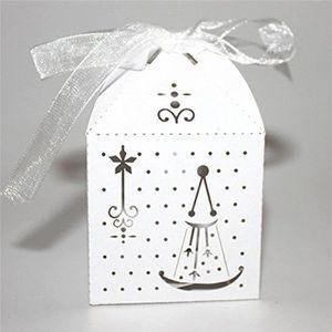 BOÎTE À DRAGÉES LR 50Pcs Boîte À Dragée Mariage(Blanc) - LRCYD821B